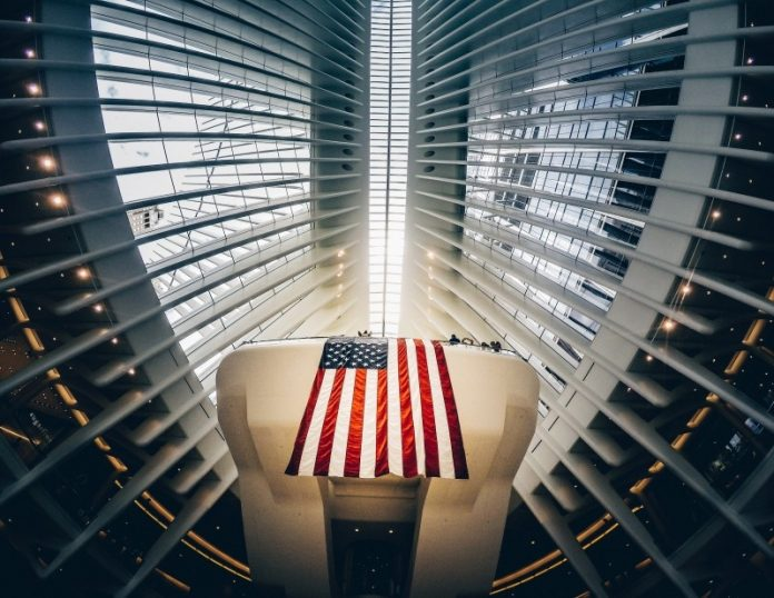 Flag of the United States on Ceiling