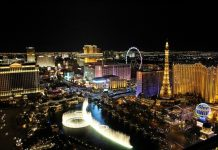 Las Vegas - Gambling, Games - City - Night View - Colorful