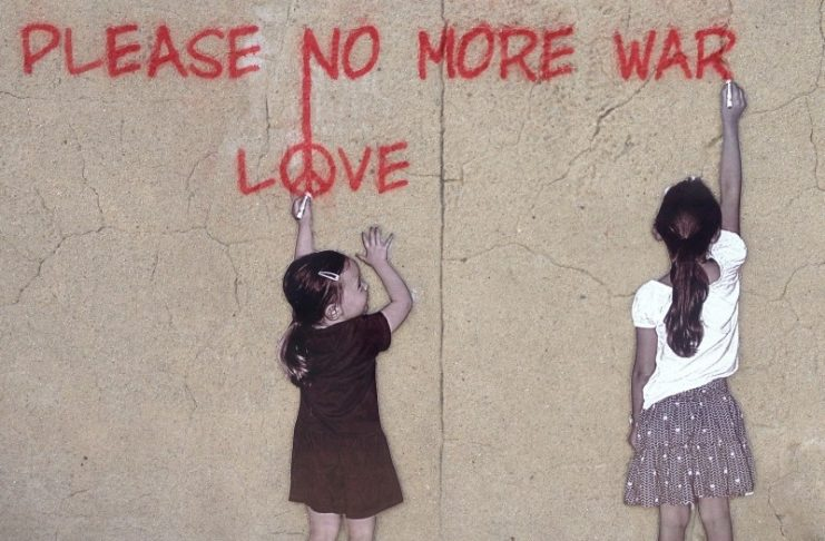 Peace, Graffiti, Street Art, Art, Children, War