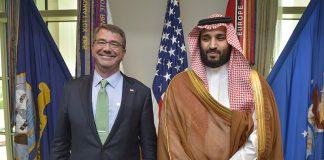 Ash Carter and Mohammad bin Salman Al Saud
