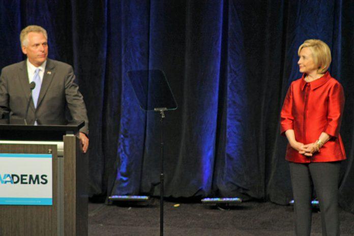 Terry McAuliffe and Hillary Clinton