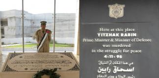 Yasser Arafat and Yitzhak Rabin