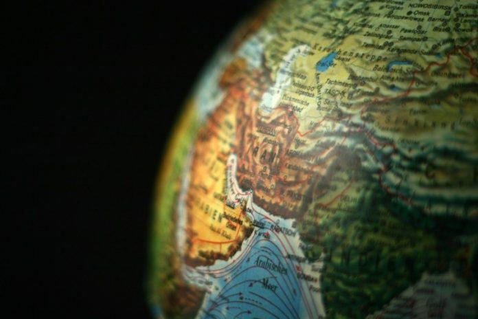 Detail of Model of Globe