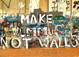 Make Hummus Not Walls - Separation Wall