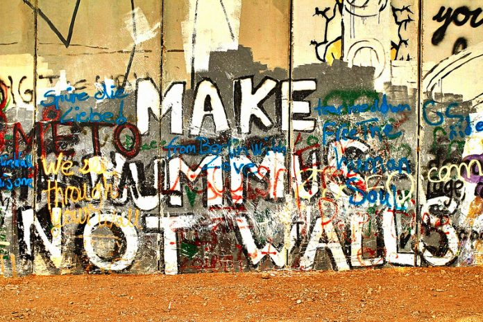 Make Hummus Not Walls - Separation Wall