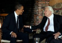 Billy Graham with Obama