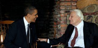 Billy Graham with Obama