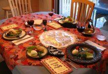 Haggadah - A Seder table setting