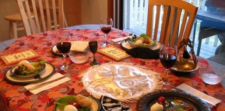 Haggadah - A Seder table setting