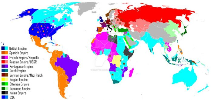Colonialism Imperialism World Map