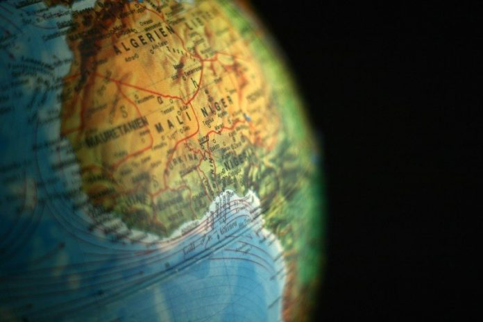 Globe Algeria Niger Mali Africa